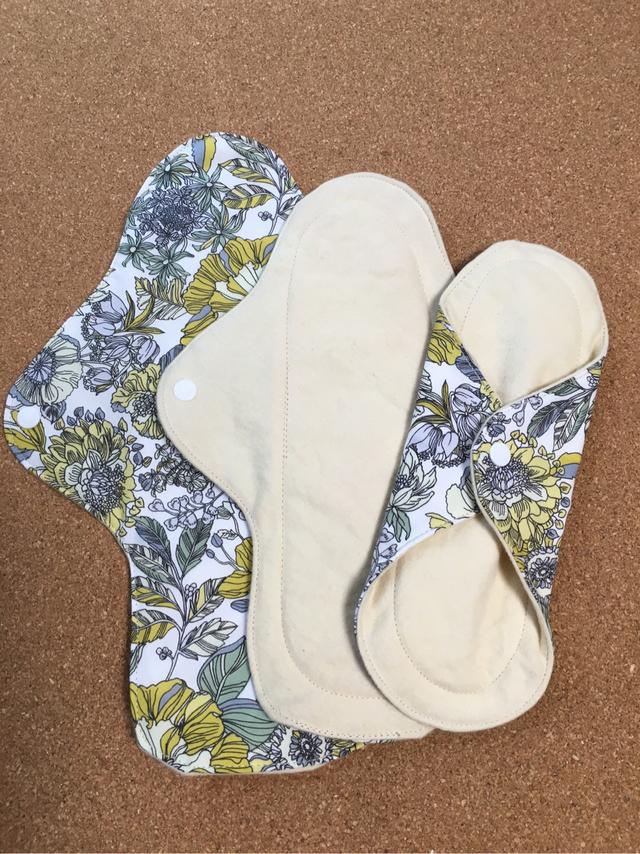 草木花低温染(ミモザ花)布ナプキンセット