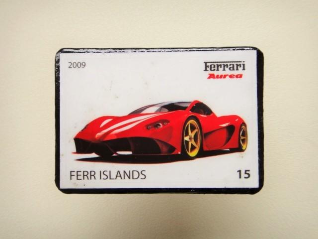 フェラーリ 切手ブローチ1268
