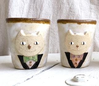 猫紳士のコーヒーカップ(タキシード)