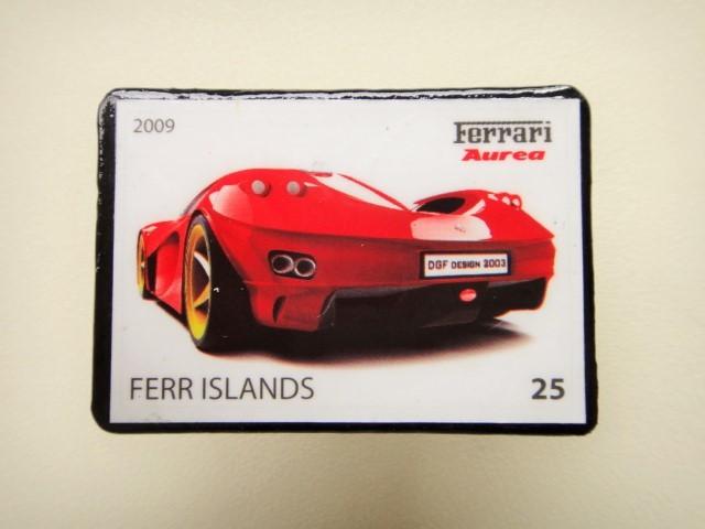 フェラーリ 切手ブローチ1270