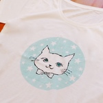 SALE! T-shirts - cat & stars