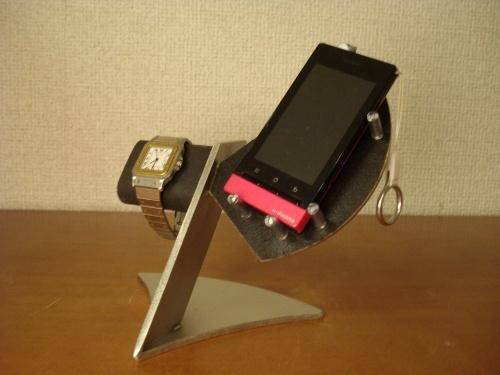 腕時計スタンド ブラック腕時計、スマホ、携帯電話スタンド