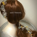 wedding 〈ラリエット〉 【ivory&yellow&blue】raliat*