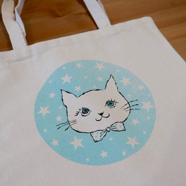 tote bag -cat & stars
