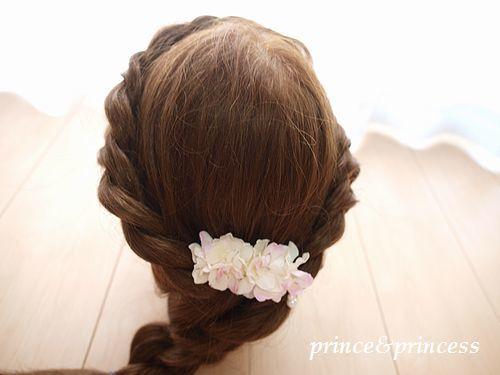 あじさいの髪飾り*うすピンク*