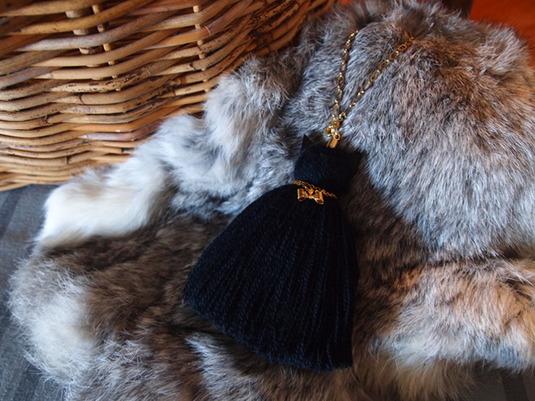 【再販】黒猫タッセル/wool hair