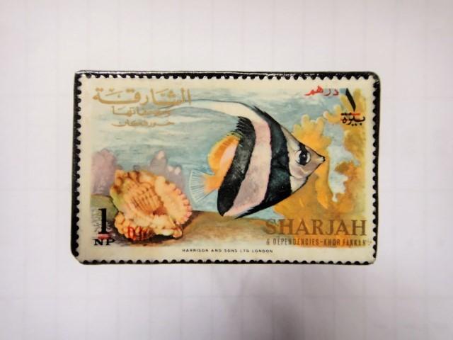 魚切手ブローチ1273