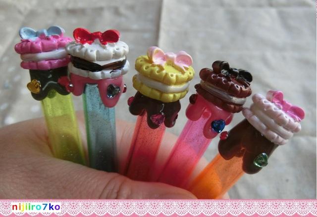 ハートのケーキ デコ鉛筆キャップ 5本セット 14-5