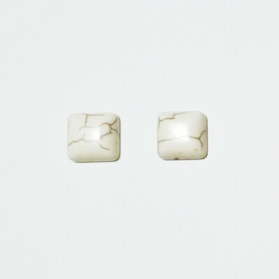 white turquoise square pierce