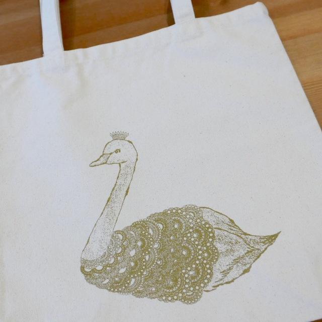 tote bag -swan