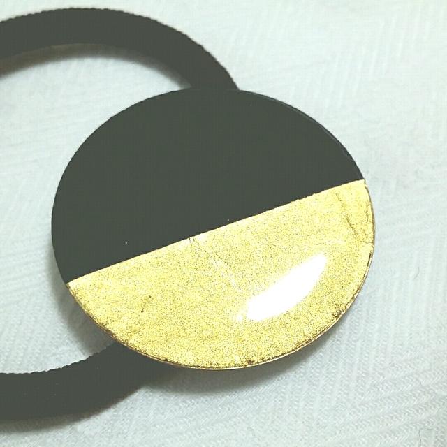 金箔 ヘアゴム