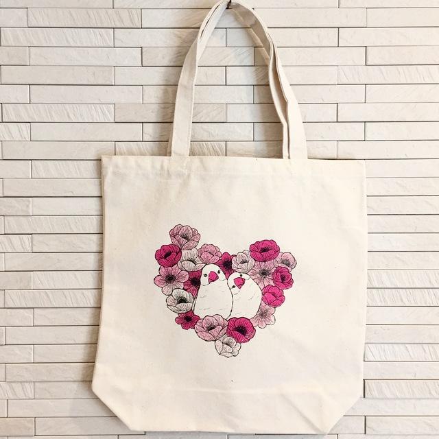 再販☆tote bag -white java sparrows