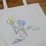 SALE! tote bag -balloon rabbit