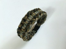 パラコードブレスレット Rigid Genoese Paracord Buckle Bracelet
