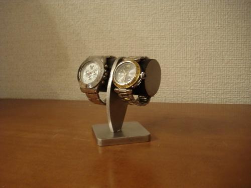 2本掛けブラックどっしり腕時計スタンド