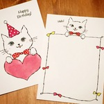 POST CARD -CAT HB & HELLO 2PC SET