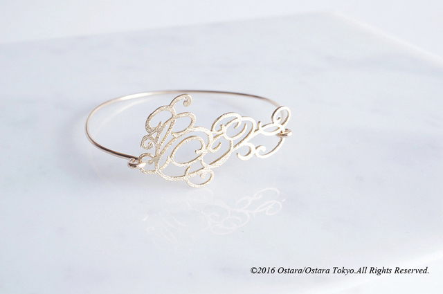 【14KGF】Wire Bangle,16KGP Filigree