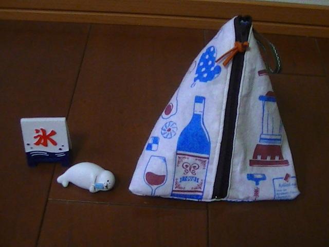 テトラポーチ(キッチン用品柄 ブルー)