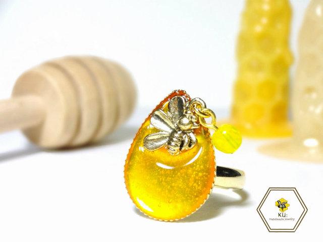 ハチミツとろ〜り指輪