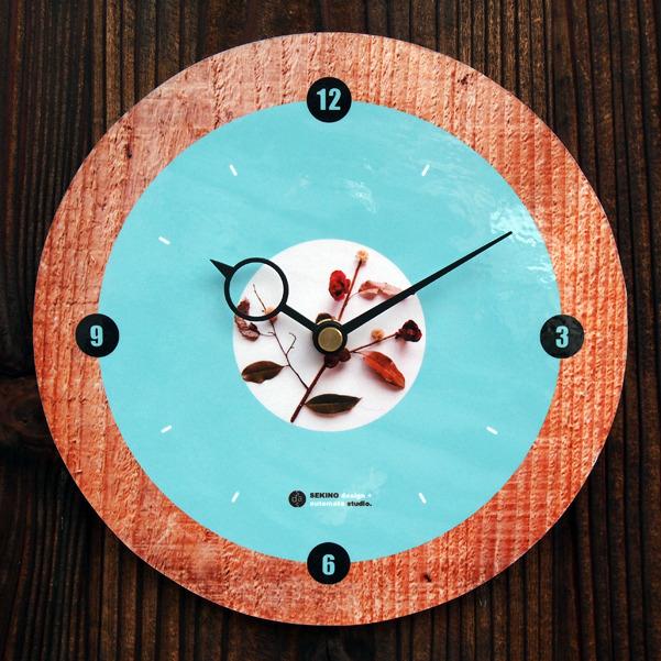 森のコラージュ円時計-A(掛けタイプ)