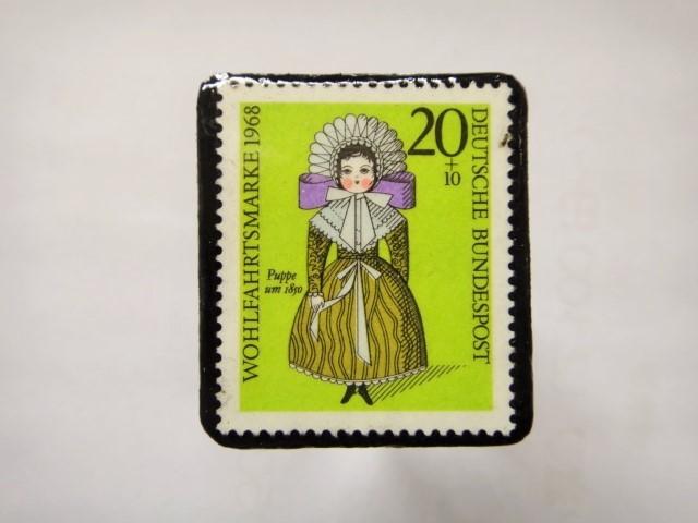 ドイツ 切手ブローチ1276
