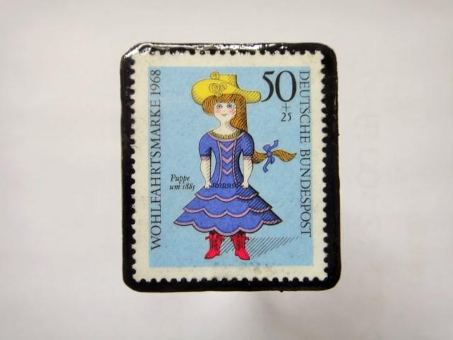 ドイツ 切手ブローチ1278