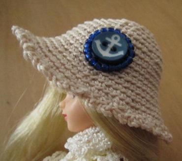 【帽コレ2016summer】ストローハット風ドール用のお帽子【アンカーS22】