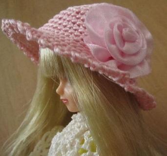 【SALE】ストローハット風ドール用のお帽子【S31】