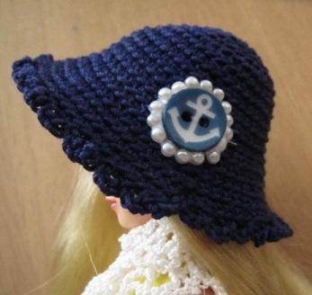 【帽コレ2016summer】ストローハット風ドール用のお帽子【S39】