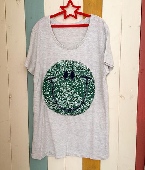 バンダナスマイルTシャツ(グリーン)