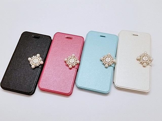 c31bdf6a71 【Y様専用】パールビジューの可愛いiPhoneケース/アイフォンケース/アイホンケース/手帳型