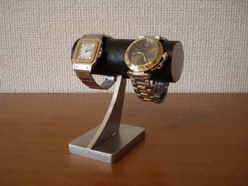 ブラック2本掛け腕時計スタンド