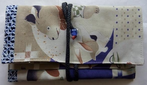 着物リメイク 子供の着物で作った和風財布 1592