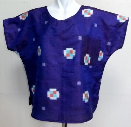着物リメイク 銘仙の着物で作ったTシャツ 1594