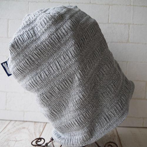 コットン100%シャーリングニット生地で作ったニット帽