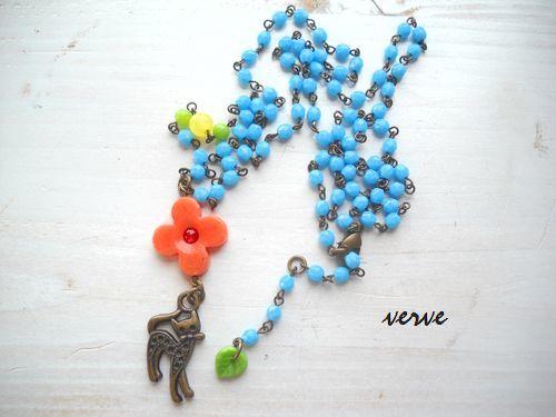 Flower child CAT walk necklace