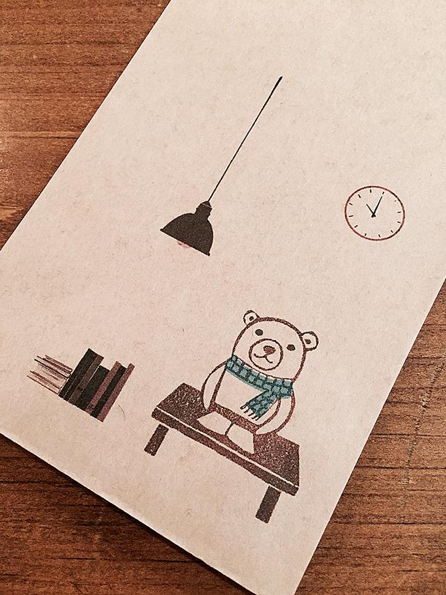 読書するクマ 長封筒15枚セット