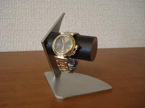 ウォッチスタンド 黒2本掛けデザイン腕時計スタンド