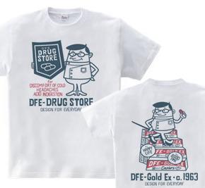 ドラッグストア&薬剤師★アメリカンレトロ 【両面】 WS〜WM?S〜XL Tシャツ【受注生産品】