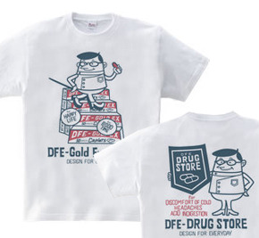 ドラッグ&薬剤師★アメリカンレトロ 【両面】 WS〜WM?S〜XL Tシャツ【受注生産品】