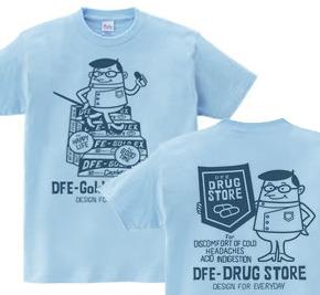 ドラッグ&薬剤師★アメリカンレトロ 【両面】WS〜WM?S〜XL Tシャツ【受注生産品】