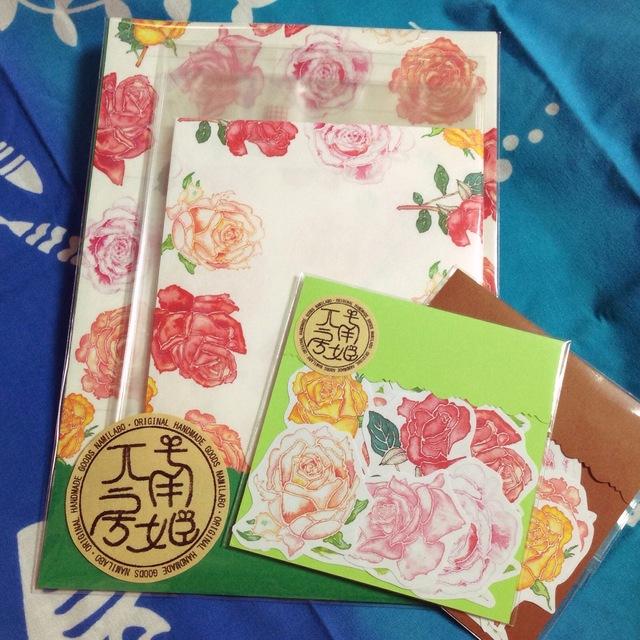 【ナミラボ】バラのレターセット