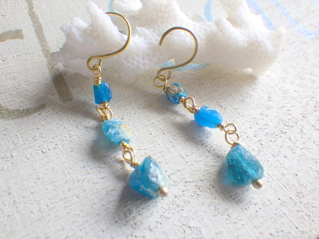??再販?? 地中海ピアス Roman Glass Seaside earrings