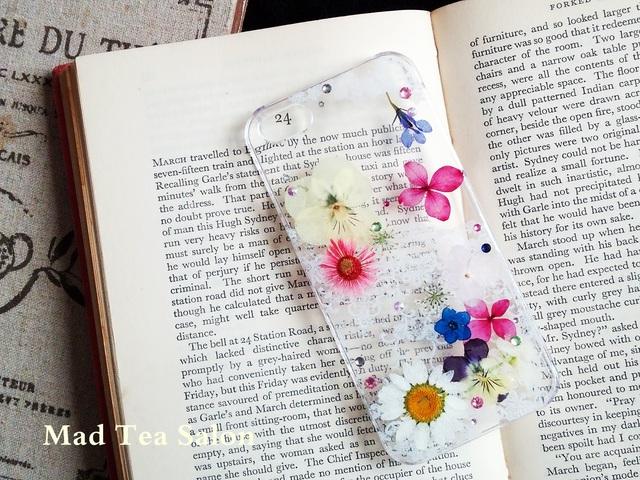 白レースとお花の清楚で可愛いiphone5.5sカバー