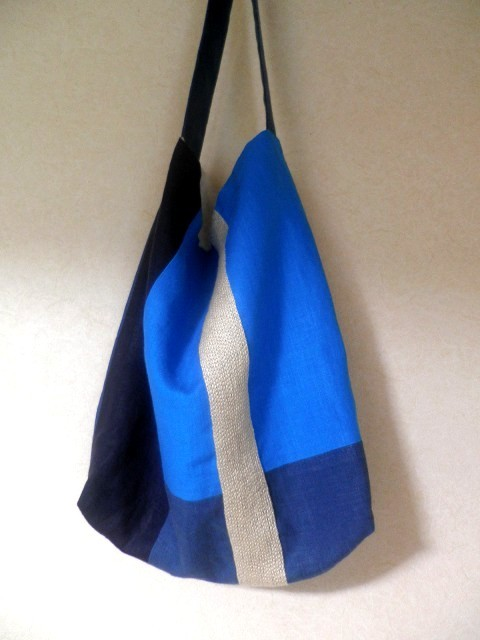 itoiro bag (blue&milk)