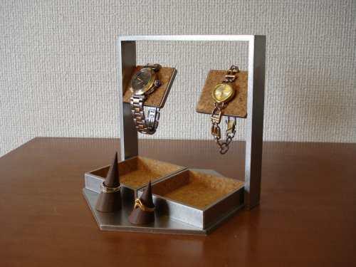デカイトレイ腕時計スタンド 指輪スタンド付き(未固定)