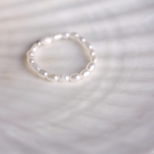 人魚姫の指輪みたいな淡水真珠リング