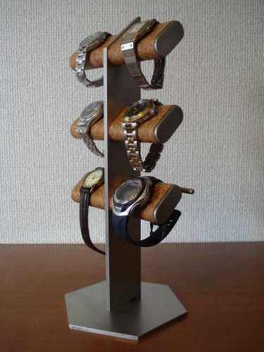 6本掛け腕時計&革バンド時計タワースタンド
