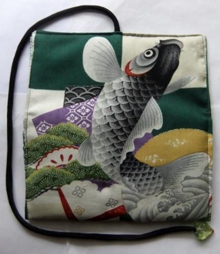 着物リメイク 男の子のお宮参り着で作った和風財布 1600
