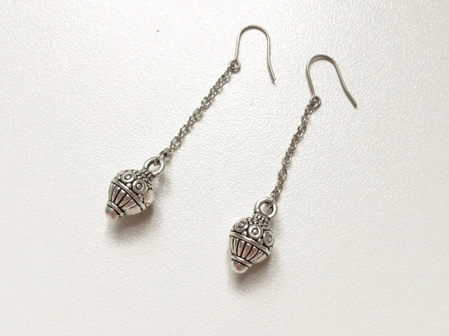 delicate dangle ball earrings